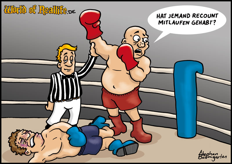 World of Reallife Cartoon 004 Recount Stephan Baumgarten Rastafisch