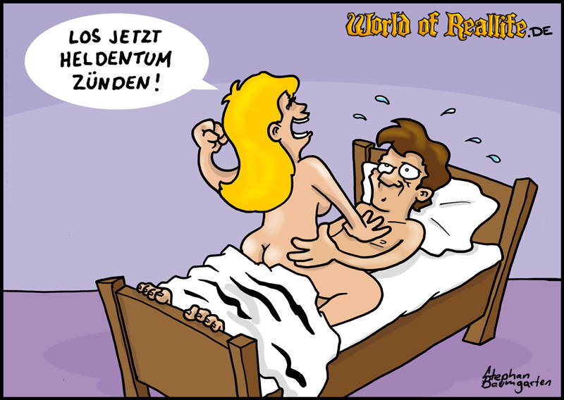 World of Reallife Cartoon 010 Heldentum Stephan Baumgarten Rastafisch