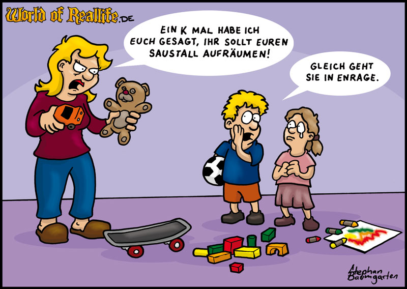 World of Reallife Cartoon 016 Enrage Stephan Baumgarten Rastafisch
