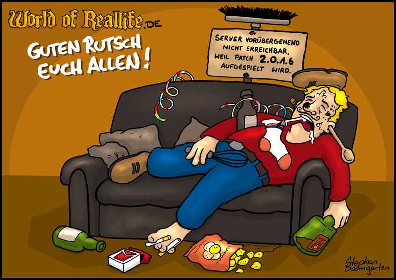 World of Reallife Cartoon 025 Silvester Stephan Baumgarten Rastafisch