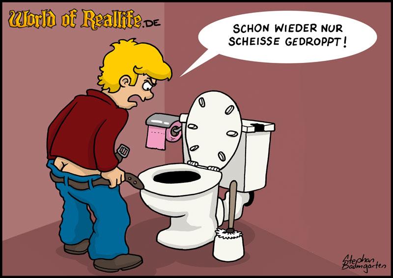 World of Reallife Cartoon 026 Gedroppt Stephan Baumgarten Rastafisch