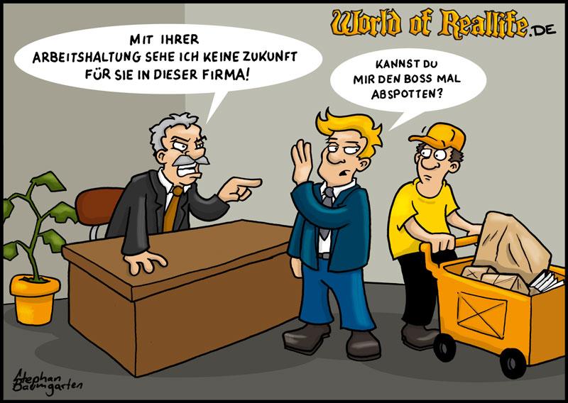World of Reallife Cartoon 034 abspotten Stephan Baumgarten Rastafisch