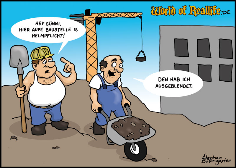 World of Reallife Cartoon 036 Helm Stephan Baumgarten Rastafisch