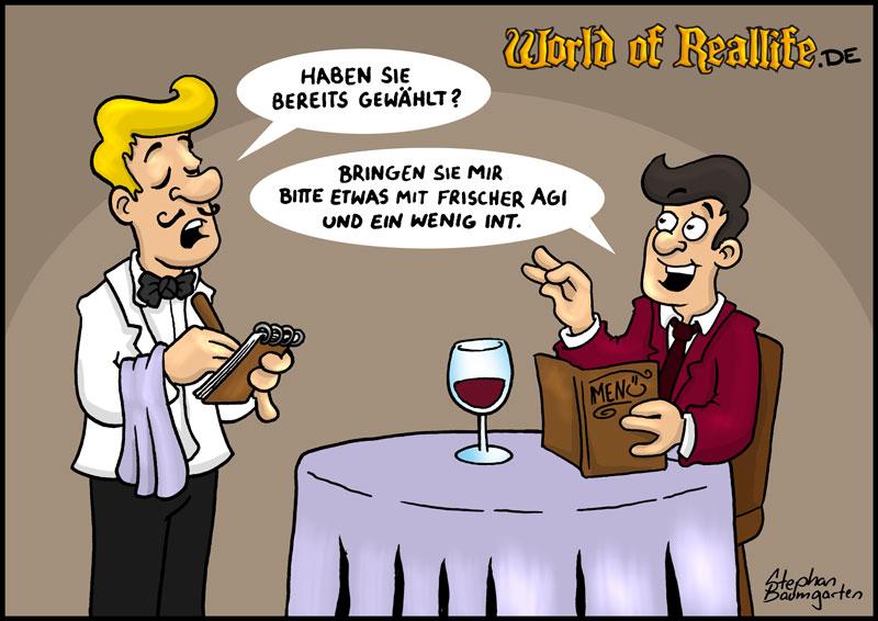 World of Reallife Cartoon 043 food Stephan Baumgarten Rastafisch