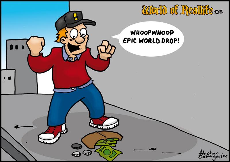 World of Reallife Cartoon 046 Epik Worlddrop Stephan Baumgarten Rastafisch