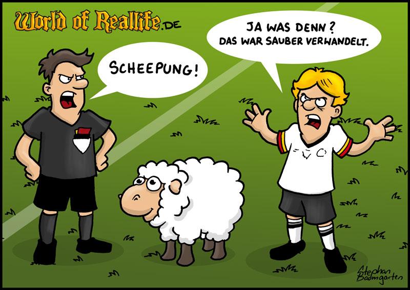 World of Reallife Cartoon 53 Sheepung Stephan Baumgarten Rastafisch