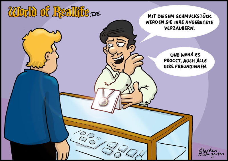 World of Reallife Cartoon 65 Schmuck Stephan Baumgarten Rastafisch