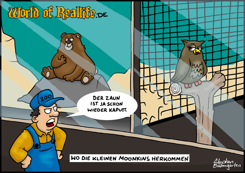 World of Reallife Cartoon 69 Moonkin Stephan Baumgarten Rastafisch