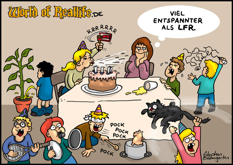 World of Reallife Cartoon 72 LFR Stephan Baumgarten Rastafisch