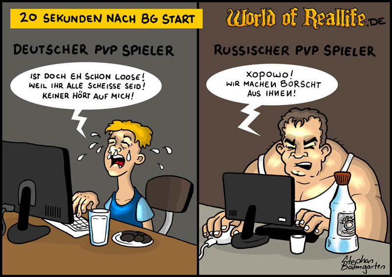 World of Reallife Cartoon 74 BG Stephan Baumgarten Rastafisch